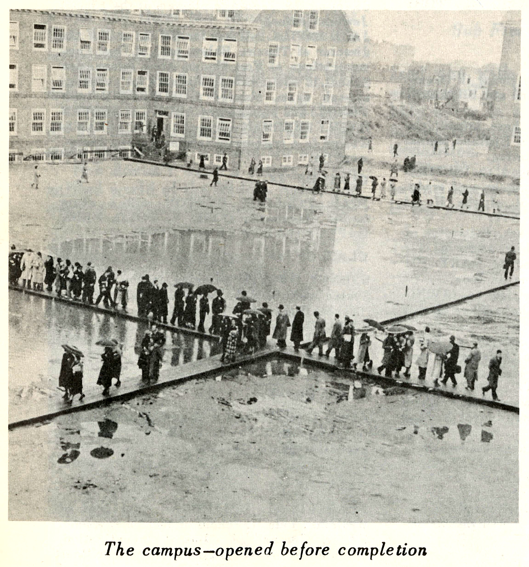 Brooklyn College Campus Opened Before Completion, 1935-1937