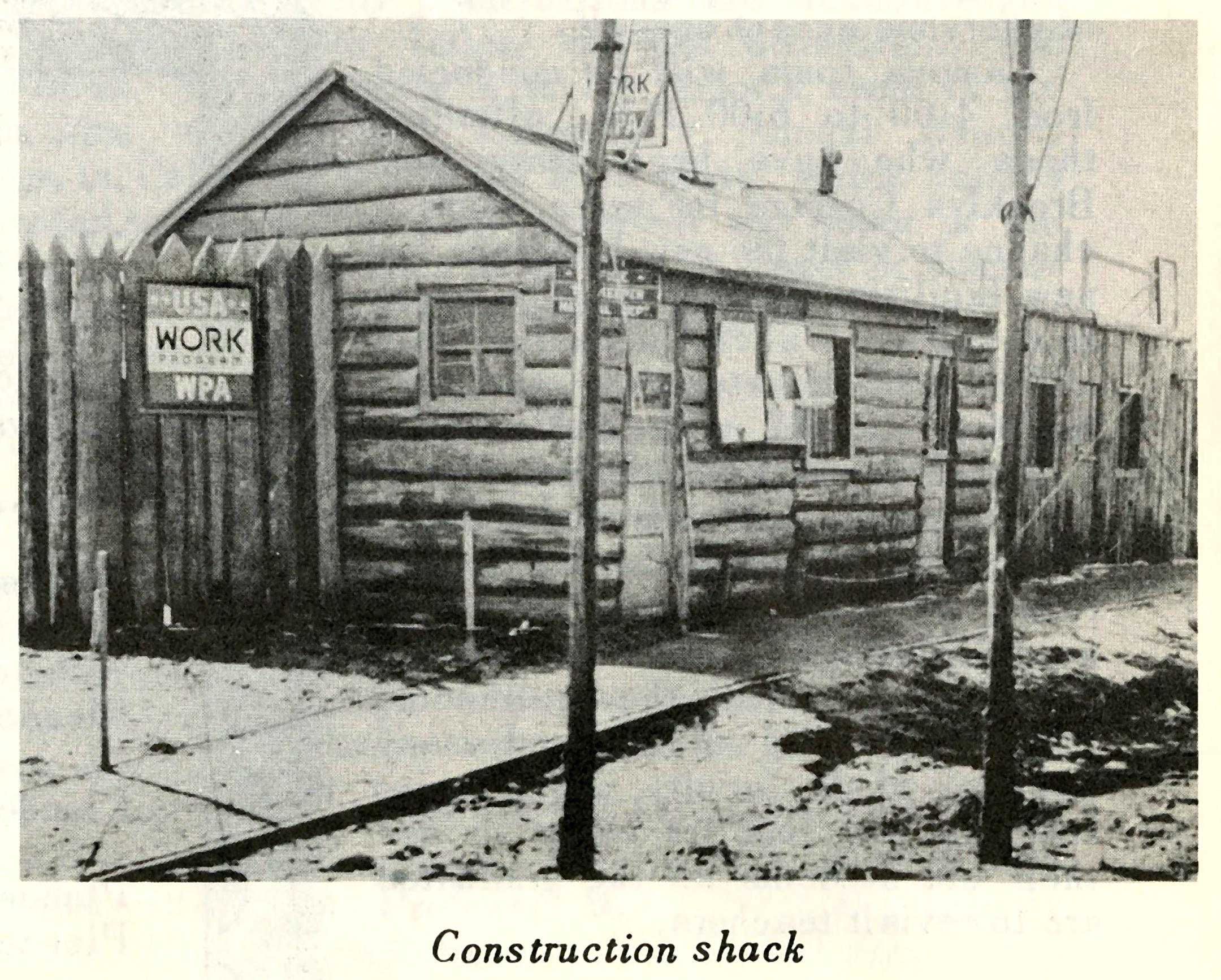 Brooklyn College Construction Shack, 1936