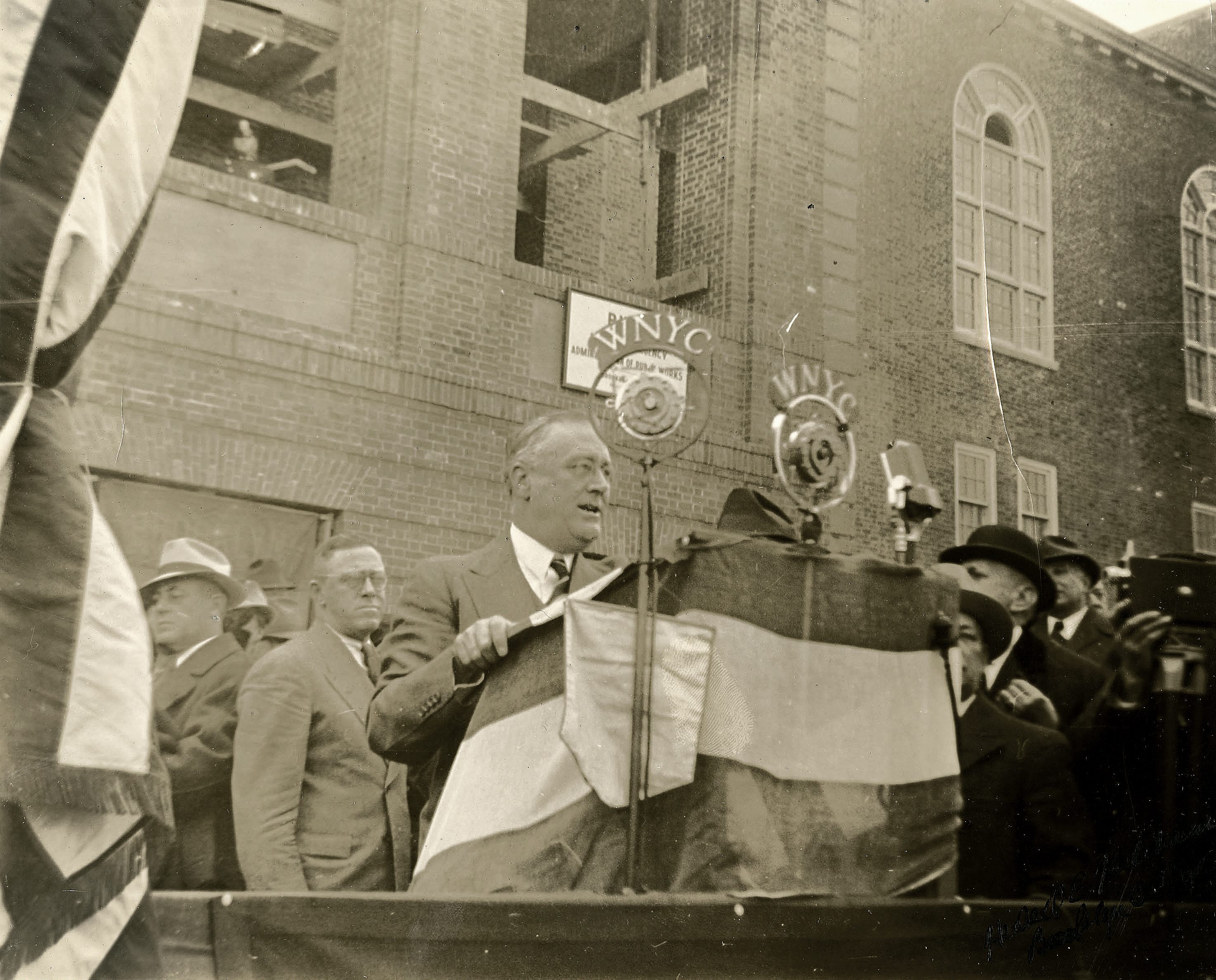 Franklin Roosevelt Brooklyn College Laying Cornerstone Ceremony, 1937