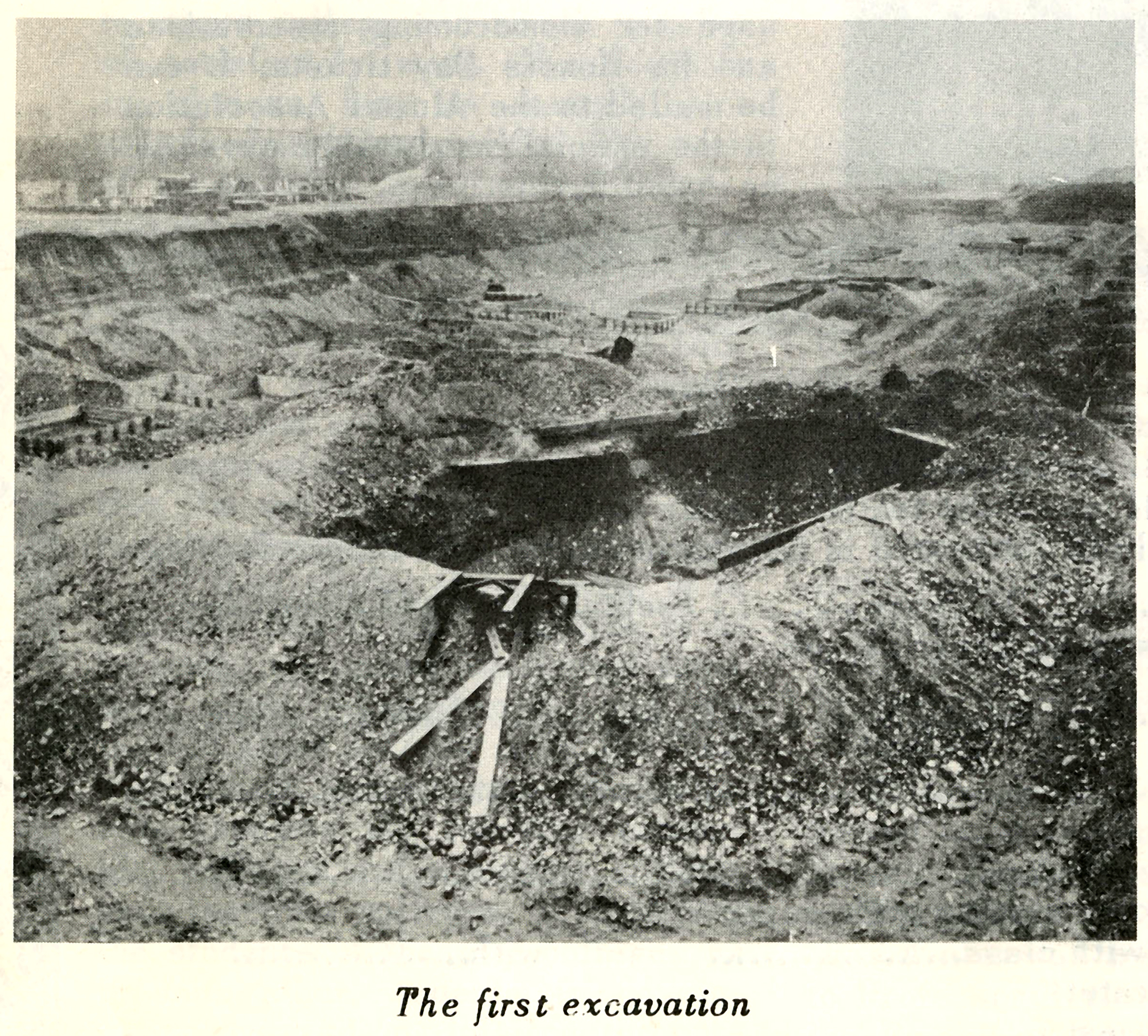Brooklyn College the First Excavation, 1935-1937