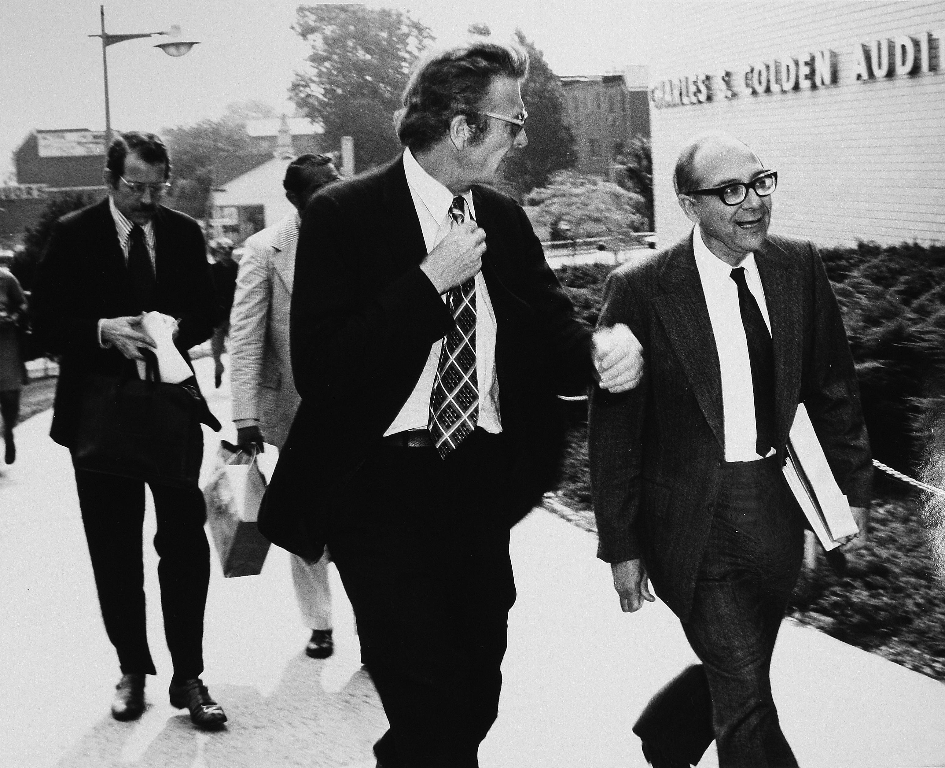 Mayor John Lindsay heading to Commencement 1973